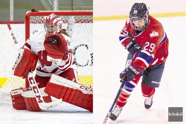 Deux hockeyeuses de la région, Marie-Philip Poulin et Ann-Renée Desbiens, ont,... (Infographie Le Soleil)