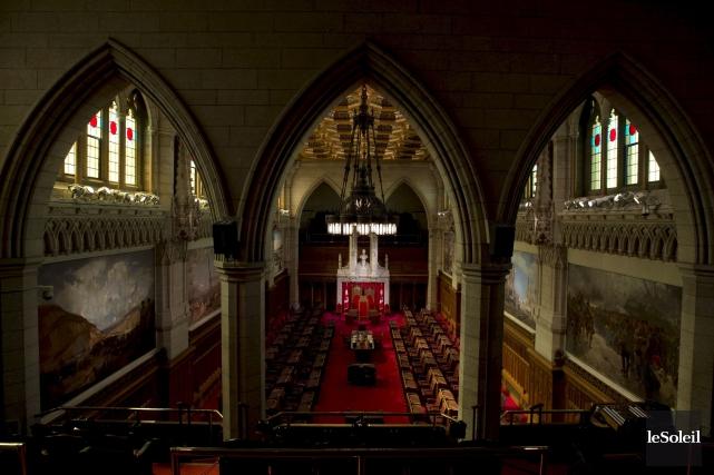 Le Sénat canadien, à Ottawa.... (Photothèque Le Soleil)
