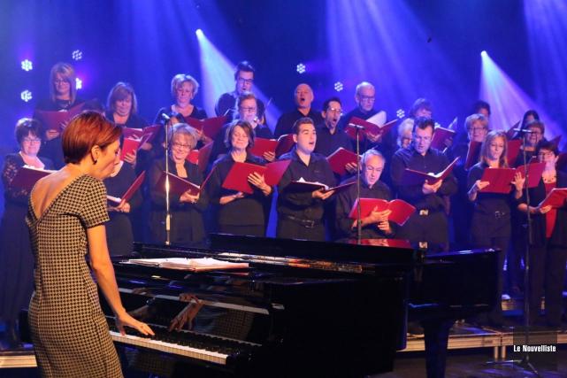 Le groupe vocal Brise du Nord a dû... (Audrey Tremblay, Le Nouvelliste)