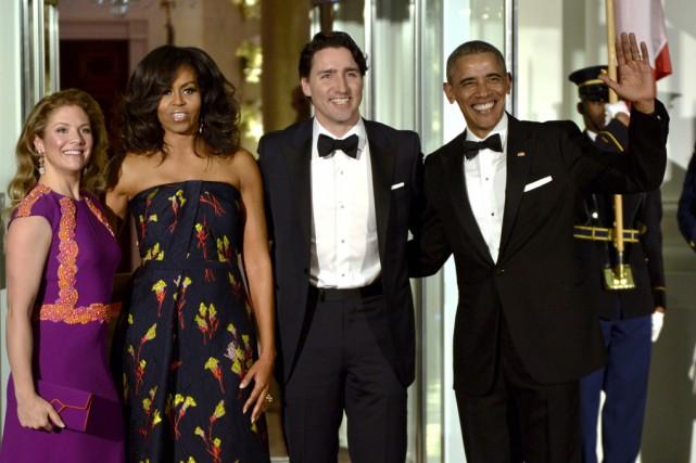 Justin Trudeau et son épouse Sophie Grégoire-Trudeau ont... (La Presse Canadienne)