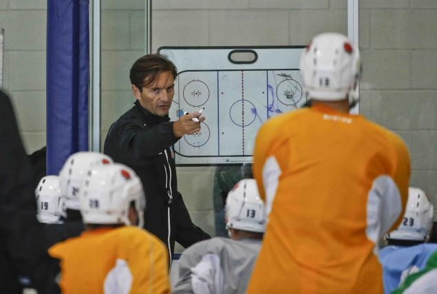 Dallas Eakins est maintenant entraîneur-chef des Gulls de... (Archives AP, Lenny Ignelzi)