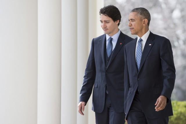 Justin Trudeau et Barack Obama... (Presse Canadienne)