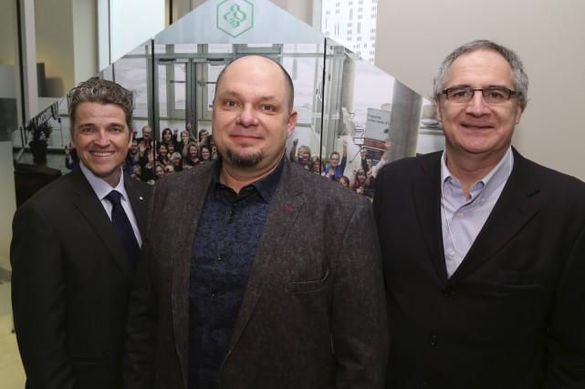 Luc Ménard, Frédérick Côté et Éric Tétrault ont... (photo Janick Marois)