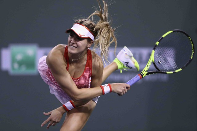 Eugenie Bouchard a amorcé le Masters 1000 d'Indian... (AFP, Julian Finney)