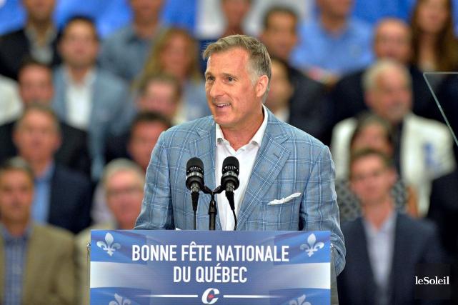 Le député de Beauce, Maxime Bernier, a été... (Photothèque Le Soleil, Pascal Ratthé)