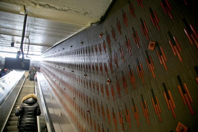 La station de métro Beaubien a fait l'objet... (PHOTO DAVID BOILY, LA PRESSE)