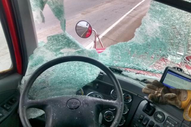 Un camionneur de Bécancour a eu très peur en début de semaine lorsqu'un...
