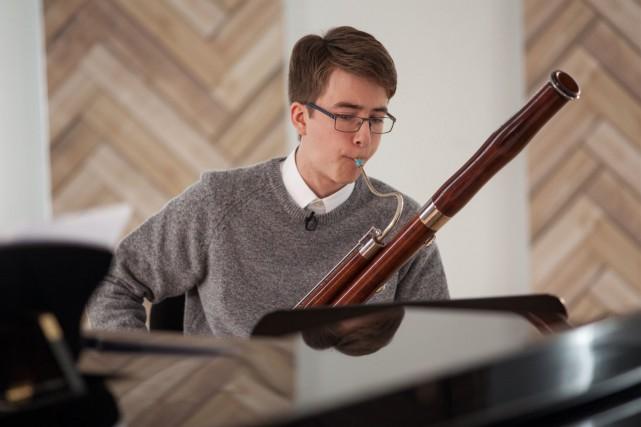 Thomas Roy-Rochette, 17ans, bassoniste de Québec, est le... (Fournie par ICI Radio-Canada Télé)
