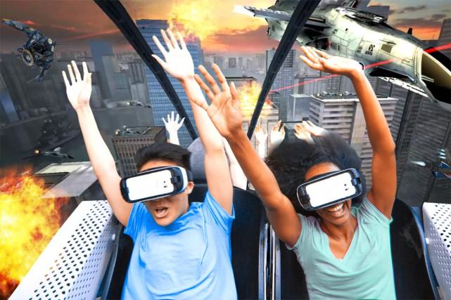 SixFlags a annoncé l'arrivée de la réalité virtuelle dès ce printemps pour neuf... (PHOTO FOURNIE PAR SIX FLAGS)