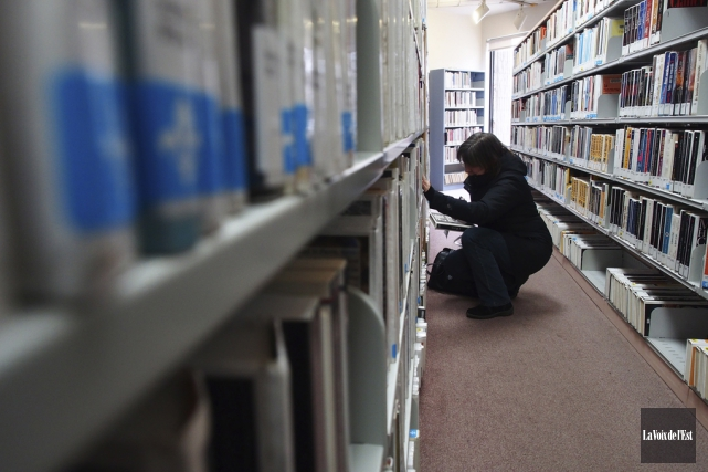 Pour devenir une bibliothèque moderne, dotée de grands... (Alain Dion, archives La Voix de l'Est)