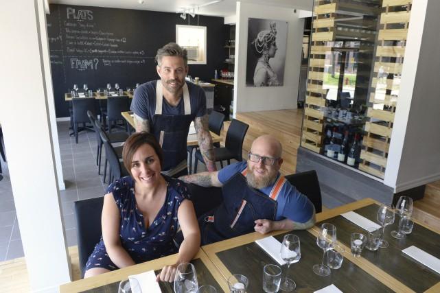 Les copropriétaires du restaurant L'Empreinte Mélanie Alain, Daniel... (Spectre Média, Maxime Picard)