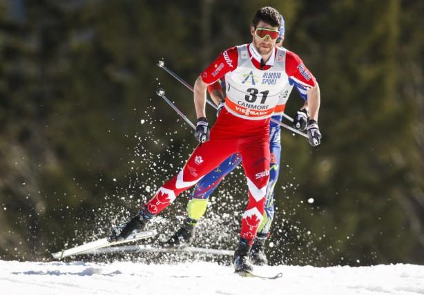 Le Québécois Alex Harvey s'est classé quatrième de l'épreuve de 15 km avec... (Photo La Presse Canadienne)