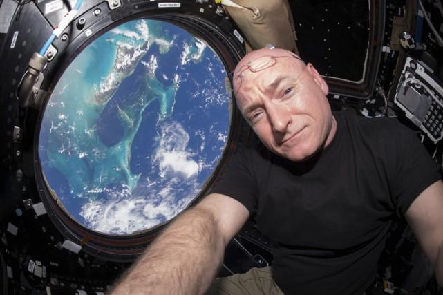 L'astronaute de la NASA Scott Kelly lors d'un... (Photo NASA via REUTERS)