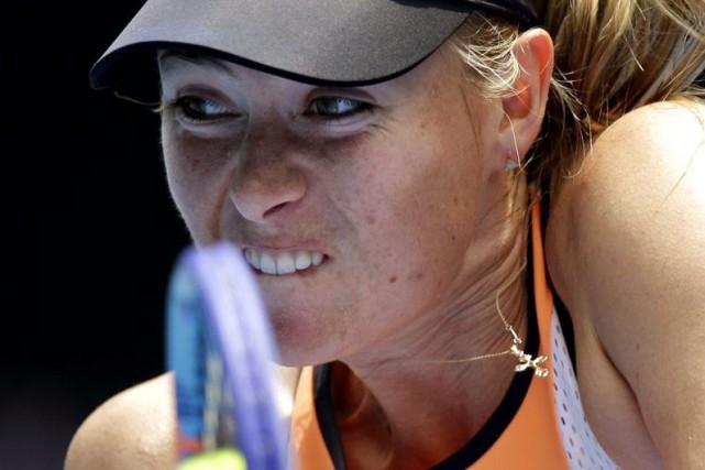 L'ancienne N.1 mondiale Maria Sharapova, suspendue à titre provisoire après un... (Photo AP)