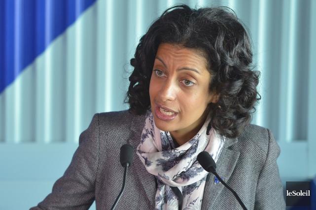 La ministre québécose de l'Économie, Dominique Anglade... (archives Le Soleil)