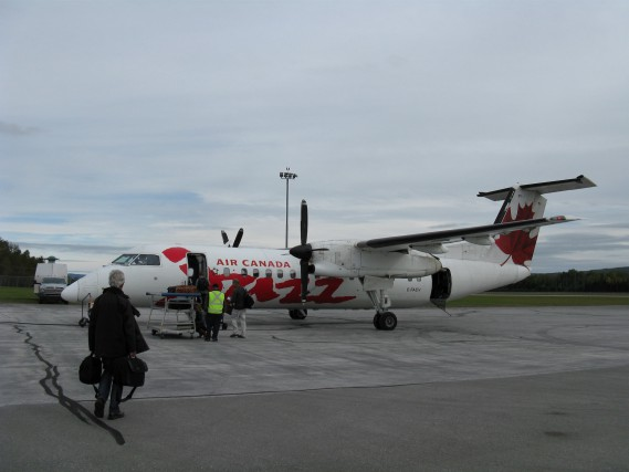 À Gaspé, 6% des vols ont été annulés... (Collaboration spéciale Geneviève Gélinas)