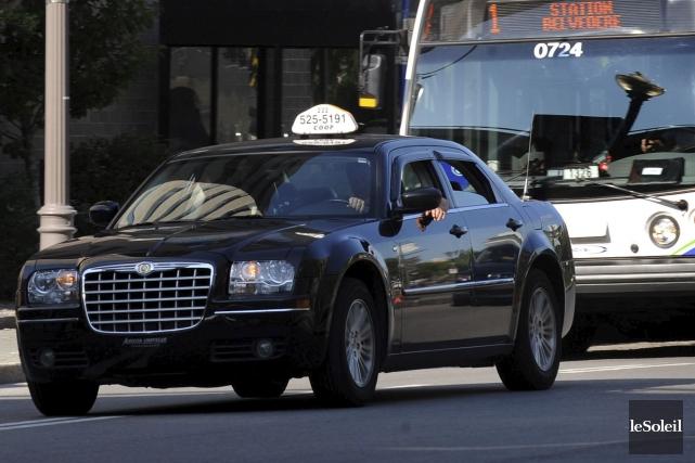 Les chauffeurs de taxi ne se réjouissent qu'à... (Photothèque Le Soleil, Erick Labbé)