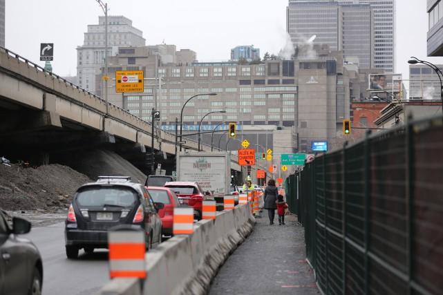 L'autoroute Bonaventure sera fermée toute la fin de... (PHOTO MARTIN CHAMBERLAND, LA PRESSE)