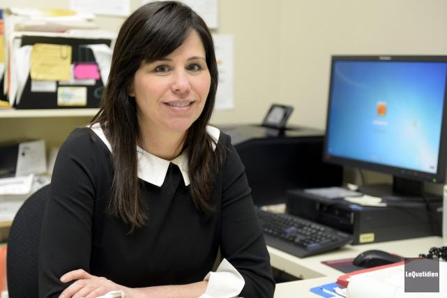 Catherine Dumoulin, directrice du Consortium régional de recherche... (Photo Le Quotidien, Jeannot Lévesque)