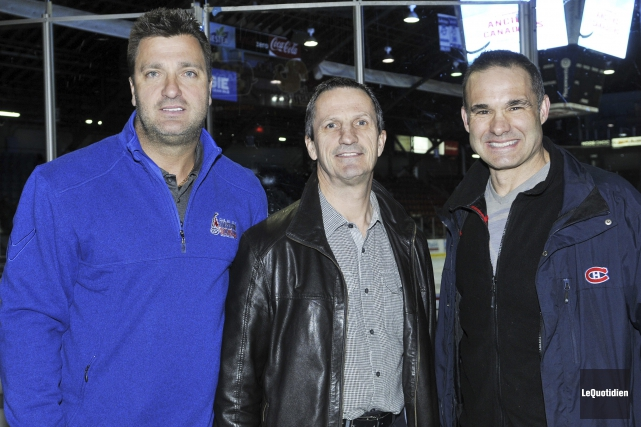 Stéphane Richer, Guy Carbonneau et Gilbert Delorme ont... (Photo Le Quotidien, Rocket Lavoie)