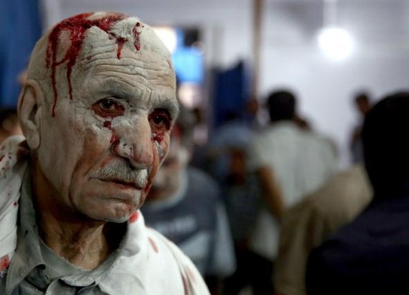 Après cinq ans de guerre qui ont causé... (PHOTO ABD DOUMANY, ARCHIVES AFP)