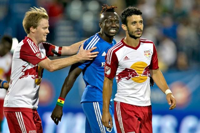 Dominic Oduro (au centre) et Felipe (à droite)... (PHOTO OLIVIER JEAN, archives LA PRESSE)