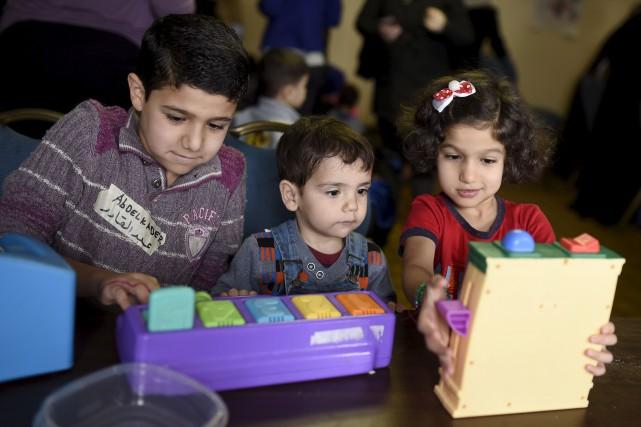 Dans sa maison à Damas, Abdelkader, 10 ans, partageait une grande chambre avec... (La Presse Canadienne)