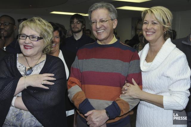 Le maire de Saguenay Jean Tremblay et sa... (Photo Le Progrès-Dimanche, Rocket Lavoie)
