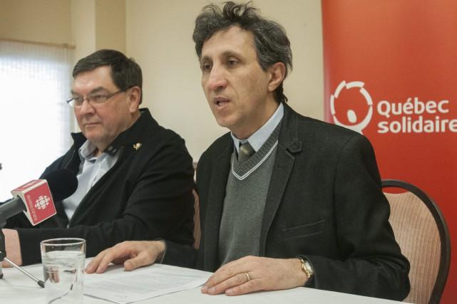 Le député de Mercier de Québec Solidaire, Amir... (Photo Le Progrès-Dimanche, Michel Tremblay)