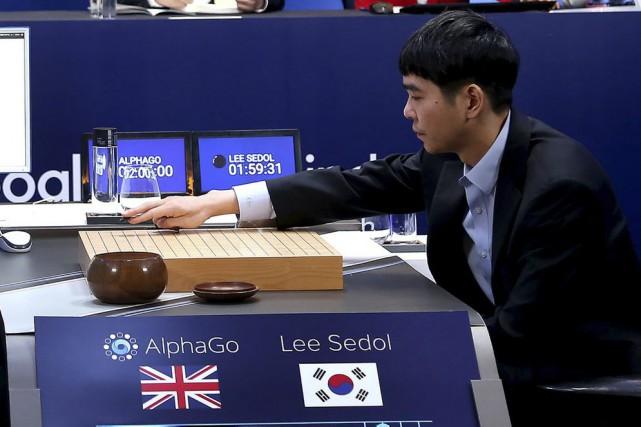 Le champion mondial du go, Lee Se-Dol, lors... (Fournie par Google Deepmind)