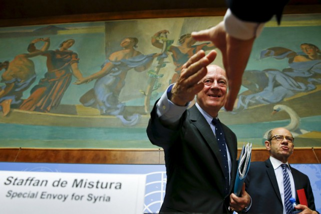 L'émissaire spécial de l'ONU pour la Syrie, Staffan... (PHOTO REUTERS)