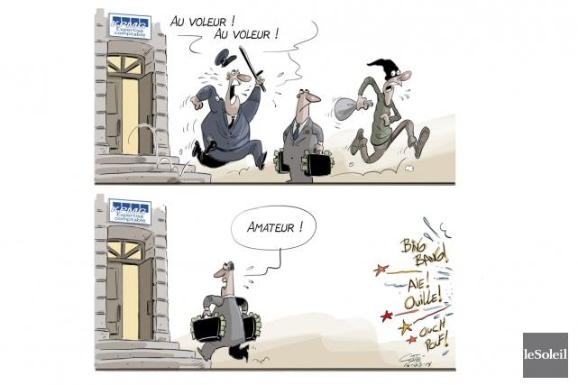La caricature du jour (André-Philippe Côté, Le Soleil)