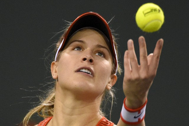 La Québécoise Eugenie Bouchard l'a emporté 7-5, 7-5... (Associated Press)