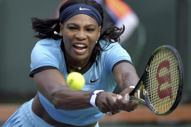 La N.1 mondiale Serena Williams s'est qualifiée pour les 8e de finale du... (Photo AP)