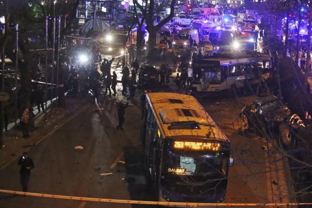 L'explosion a eu lieu à proximité de la... (AP)