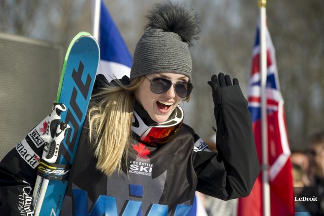 Justine Dufour-Lapointe a terminé au premier rang chez... (Martin Roy, LeDroit)
