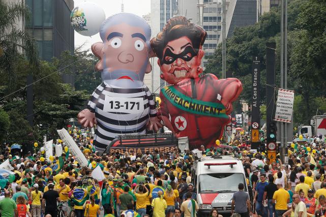 Dans la seule capitale économique Sao Paulo, fief... (AP, Andre Penner)