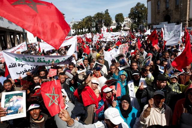L'appel à la manifestation nationale avait été lancé... (AP, Abdeljalil Bounhar)