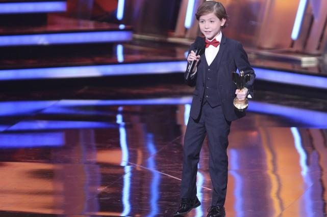 Le petit Jacob Tremblay, neuf ans, a été... (La Presse Canadienne, Peter Power)
