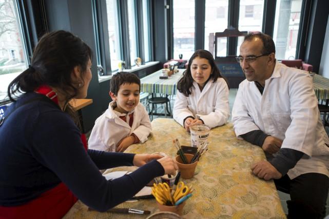L'activité d'intégration des immigrants organisée au Musée québécois... (Olivier Croteau)