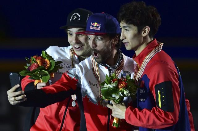 Champion du monde au 1000 mètres, le Québécois... (Photo AFP)