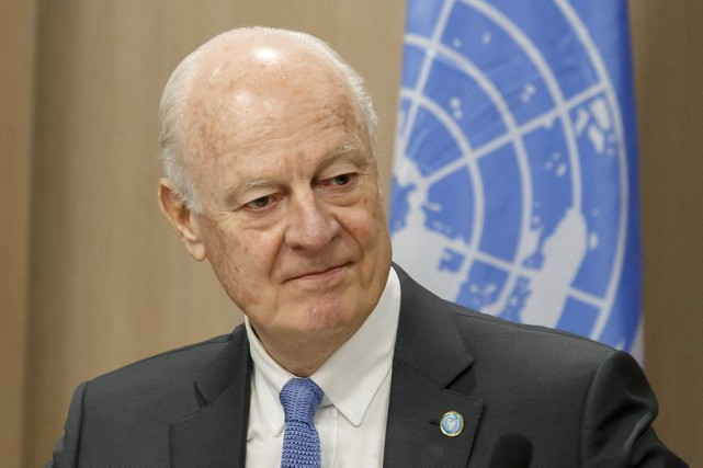 Staffan de Mistura, envoyé spécial de l'ONU pour... (PHOTO SALVATORE DI NOLFI, Agence France-Presse)