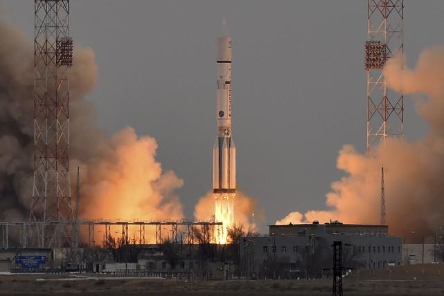 Avec la collaboration de l'agence spatiale russe Roscomos,... (Agence France-Presse, Kirill Kudryavtsev)
