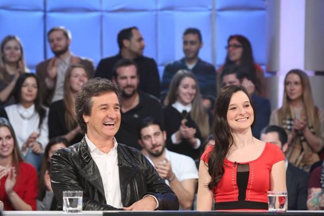 René Simard et sa fille Rosalie étaient de... (PHOTO FOURNIE PAR RADIO-CANADA)