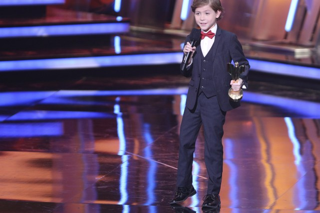 Le petit Jacob Tremblay, 9 ans, a été... (PHOTO LA PRESSE CANADIENNE)
