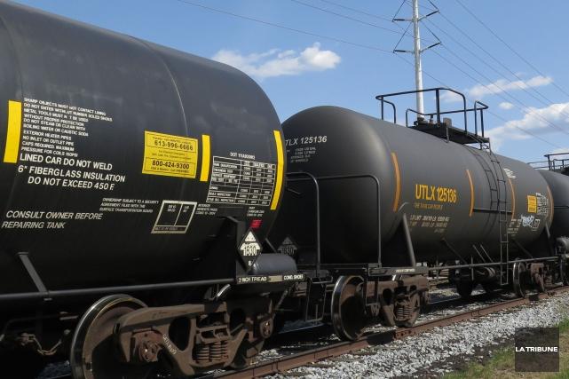 La Coalition de citoyens et organismes engagés pour la sécurité ferroviaire à... (Archives, La Tribune)