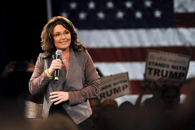 Sarah Palin est apparue à un autre événement... (PHOTO REUTERS)