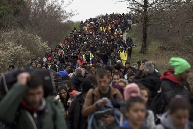 Cette action de masse est la première à... (PHOTO AP)