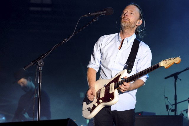Le chanteur de Radiohead, Thom Yorke... (Photo Sylvain Thomas, archives AFP)