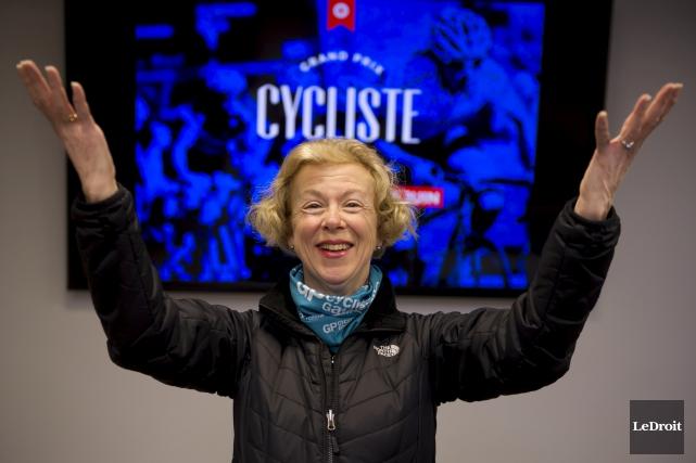 Frédérique Moulin est présidente du Grand Prix Cycliste... (Martin Roy, LeDroit)